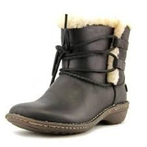 Ugg Rianne Boots Shearling Black Winter 10